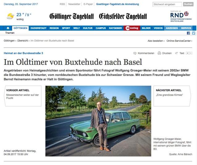 Gšttinger Tageblatt, Bundesstra§e 3, B3, Heimat Bundesstra§e 3